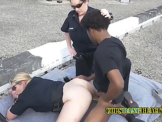 Peeping tom is coerced into drilling mother i'd like to fuck cops unfathomable and hard