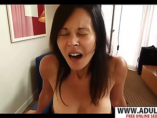 Perspired stepmom judy bangs hard delicate son