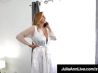 But Mommy! ... But Mommy Nothing! Your favorite Milf, Julia Ann, takes her loving step son's stiff prick & milks it with her warm mouth & wet pussy! Full Video & Julia Ann Live @ JuliaAnnLive.com!