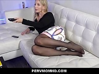 Cheating Hot Blonde MILF Step Mom Blackmailed And Family Fucked By Big Dick Step Son POV