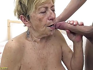 hairy 90 years old mom rough fucked by her young big cock boyfriend