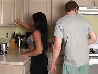 Latina Mom Fucks Son in Laundry Room